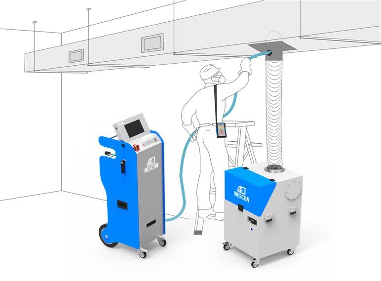 Limpieza e higienización de sistemas de climatización