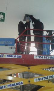 Trabajos en Centro Comercial Rosaleda